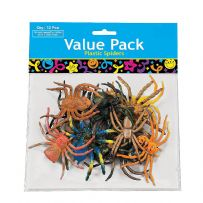Plastic Spiders Party Bag Fillers (12)
